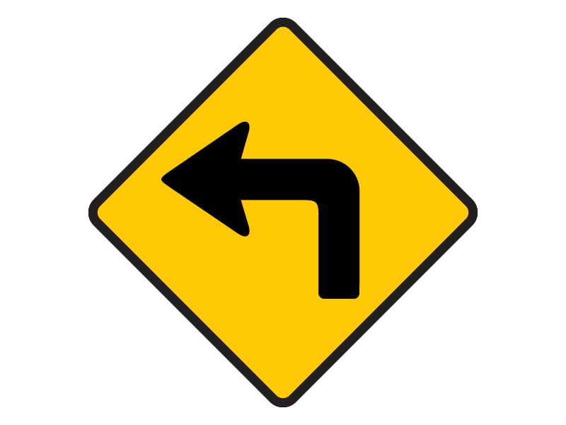 ทางโค้งรัศมีแคบเลี้ยวซ้าย