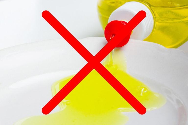 หลีกเลี่ยงการใช้น้ำยาล้างจานล้างล้อรถ