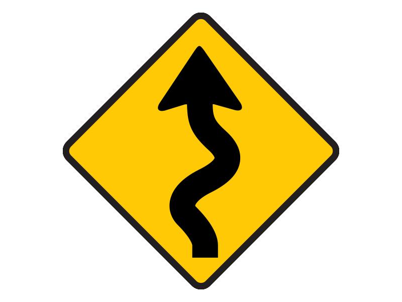 ทางคดเคี้ยวเริ่มซ้าย
