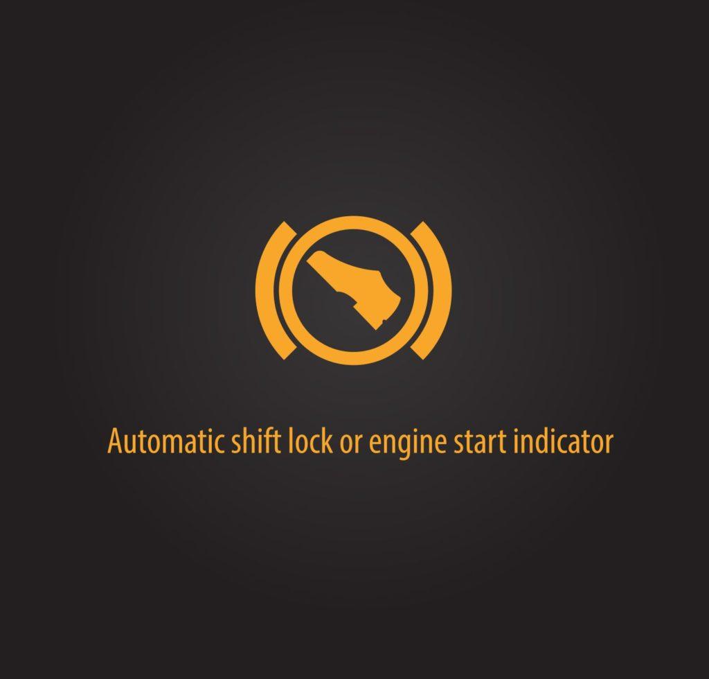 สัญลักษณ์การล็อกอัตโนมัติ (Automatic shift lock)