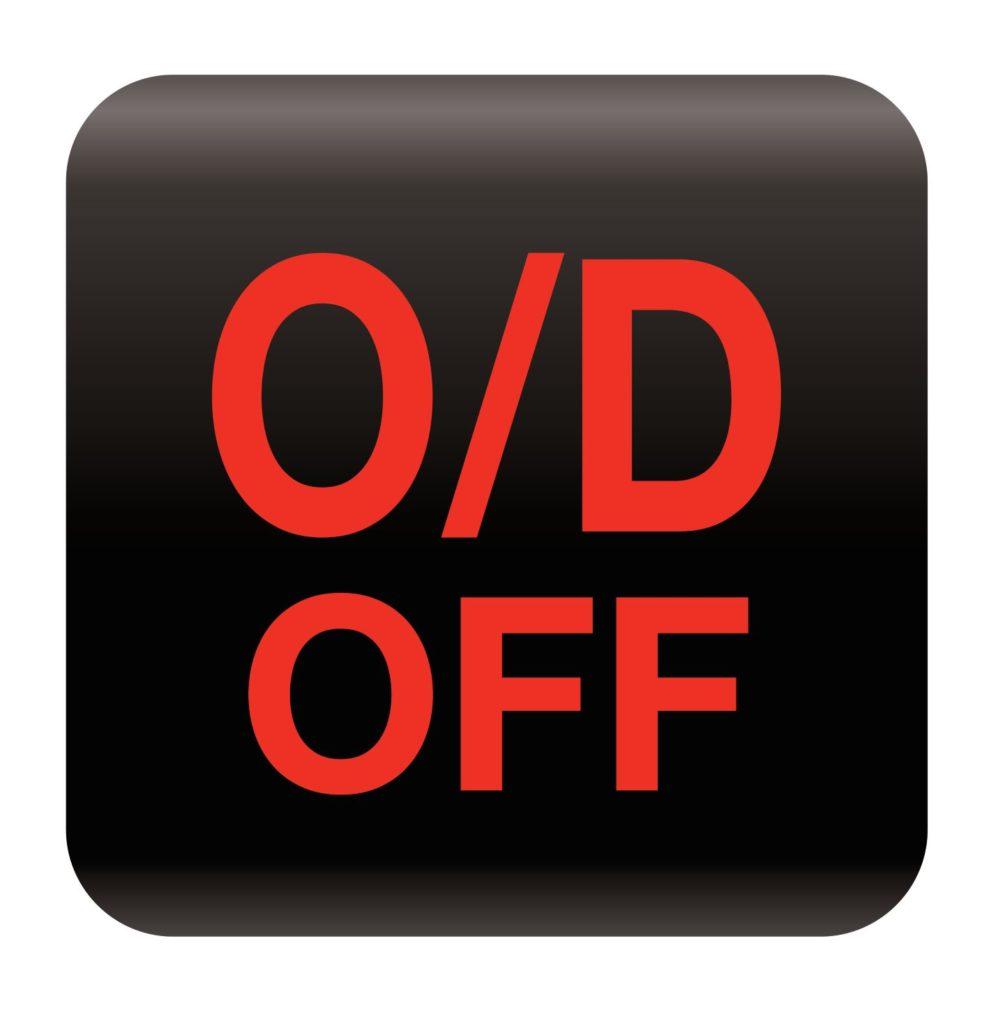 สัญลักษณ์ตัดการทำงานของเกียร์ (Overdrive off indicator)
